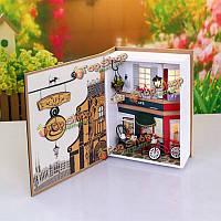 Hoomeda b005 лето в прага кафе 20.5 * 7 * 15.2см DIY кукольный коробка коллекции театральных подарок малышей