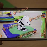 Beiyouqu 6шт/комплект 3D волшебная ткань книги игрушки китайский и английский двуязычный дошкольного educatioinal игрушка