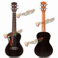 21-дюймов сопрано укулеле прекрасный музыкальный инструмент черный гитара палисандр