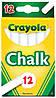 Мел Crayola не крошится для школьных досок, мольбертов белый 12шт, Крайола