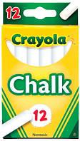 Мел Crayola для досок, мольбертов, флипчартов белый 12шт