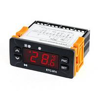 Контроллер температуры ETC-974 (полный аналог ID-974, 2 датчика)