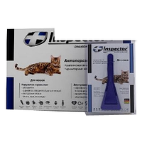 Капли Инспектор для кошек менее 4 кг пипетка экопром
