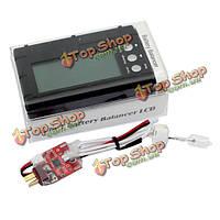 Липо батареи балансир LCD напряжения метр тестер разрядник 2S-6S АОК 3 в 1 50w