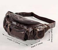 Кожаная сумка на пояс 7144C, фото 1