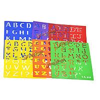 Пластиковый рисунок алфавит шрифта трафаретные буквы верхнего регистра в нижнем регистре набор ремесла