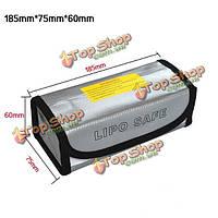 185x75x60мм Lipo батареи портативный несгораемый взрывозащищенные мешок безопасности