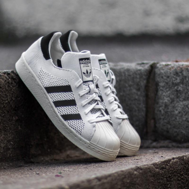 adidas Superstar 80s Primeknit (Black White)