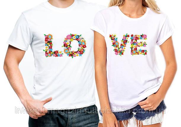 """Футболки парные """"Love"""", фото 2"""