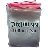 Пакет с застёжкой Zip lock 70*100 мм, фото 1