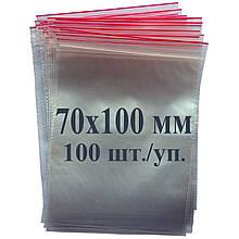 Пакет із застібкою Zip-lock 70*100 мм