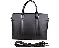 Натуральная кожаная черная сумка  7275A, фото 1