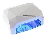УФ LED+CCFL лампа для гель-лаков и геля 36W, с таймером 10, 30 и 60 сек., цвет белый