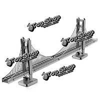 Айпина diy 3d головоломка из нержавеющей стали собрал модель цвет Серебряный мост Золотые ворота