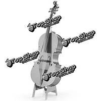 Айпина diy 3d головоломка из нержавеющей стали собрал модель виолончели серебряный цвет