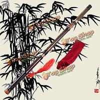 8 отверстий 3 раздела китайский бамбуковая флейта сяо фиолетовый бамбук имеет ключ гс