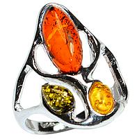Янтарь Прибалтика, серебро 925, 091КЯ  кольцо