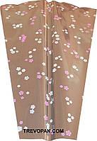 "Пакеты для цветов ""Сакура розовый"" (уп.100шт) 10x25x25"