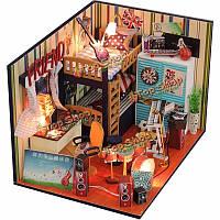 Hoomeda DIY дом куклы ручной работы миниатюрный деревянный дом модель здания подарок на день рождения время поддержка