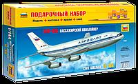 Подарочный набор сборная модель Zvezda (1:144) Пассажирский авиалайнер Ил-86