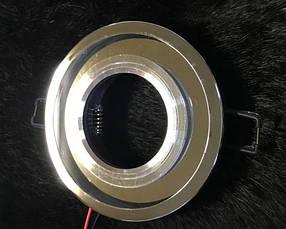 Точечный светильник SEAN SL-313 MR16 с LED подсветкой прозрачный Код.58746