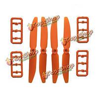 5030 пропеллер PRO CW/CCW пластик зеленый черный оранжевый DYS 24 пар, фото 1