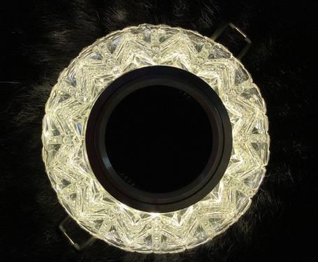Точечный светильник SEAN SL-306 MR16 с LED подсветкой прозрачный Код.58744, фото 2