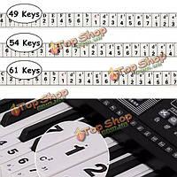 49/54/61 ключевые электронные наклейки на клавиатуру пианино  обратите внимание пианино практика самостоятельной учиться