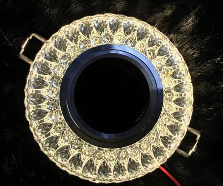 Точечный светильник SEAN SL-305 MR16 с LED подсветкой прозрачный Код.58743, фото 2
