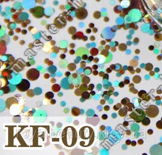 Конфетти для ногтей 09