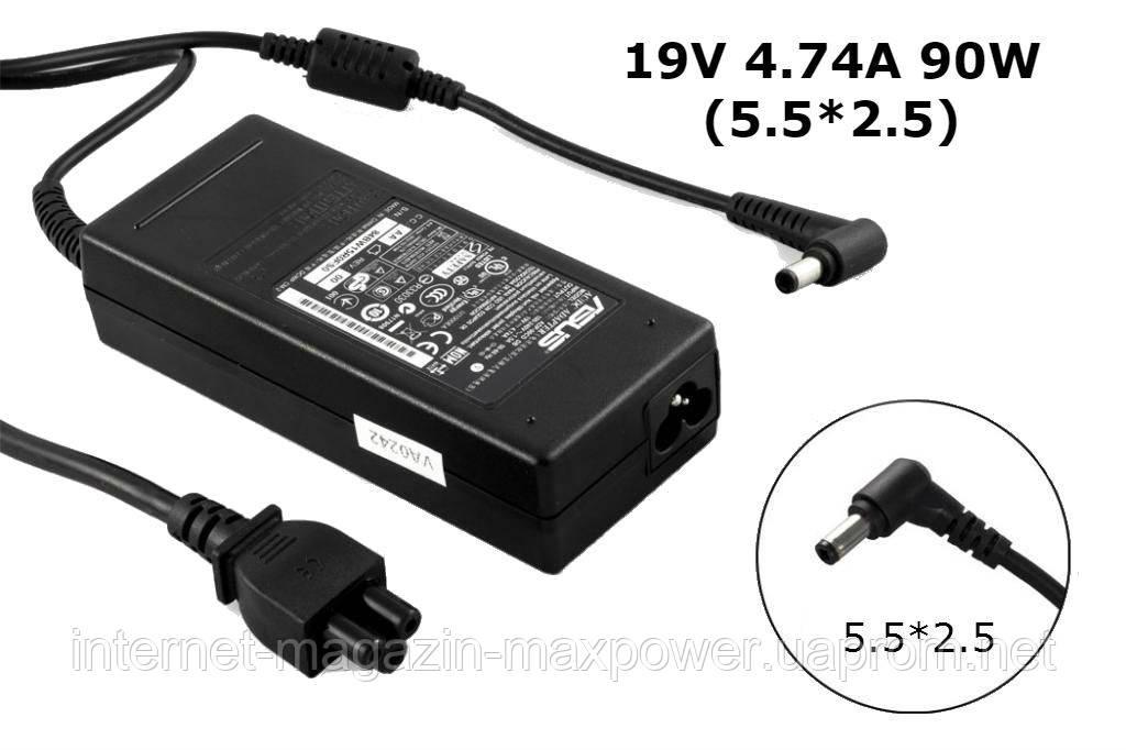Блок питания для ноутбука оригинальный Asus 19v 4.74a 90w (5.5/2.5) EXA0904YD, ADP-90CD