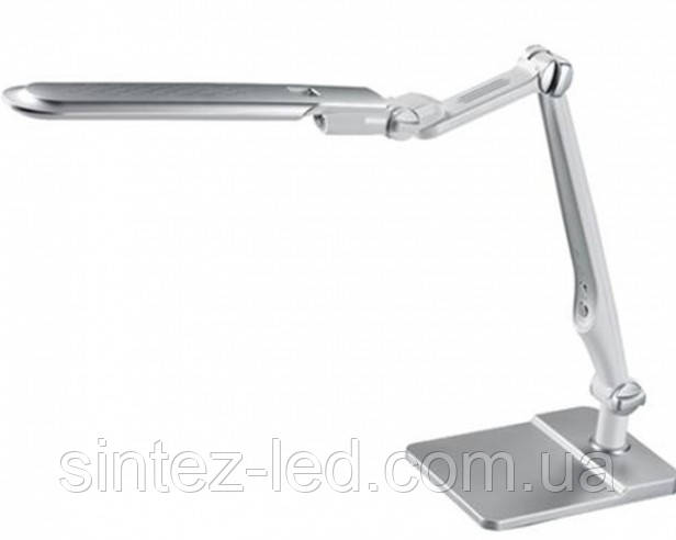 Светодиодная настольная лампа SEAN SL-1207 10W серебро, сенсор, диммер Код.58481