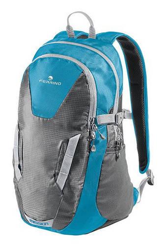 """Классный городской рюкзак с отделением для лэптопа до 15,4"""" Ferrino Mission 25 Blue 922891 голубой/серый"""