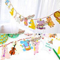 Флаг поделки бумага вечеринка милый мультфильм красочные дети игрушка украшения день рождения