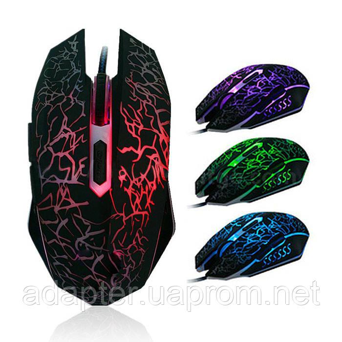 Мышь игровая GX-4000; USB; 6 кнопок; 4000dpi; подсветка