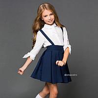 Детская юбка на подтяжках. отличный вариант для школы