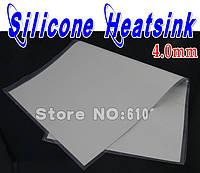 Термопрокладка под радиатор 4мм; 100 мм * 100 мм * 4 мм; селикогель