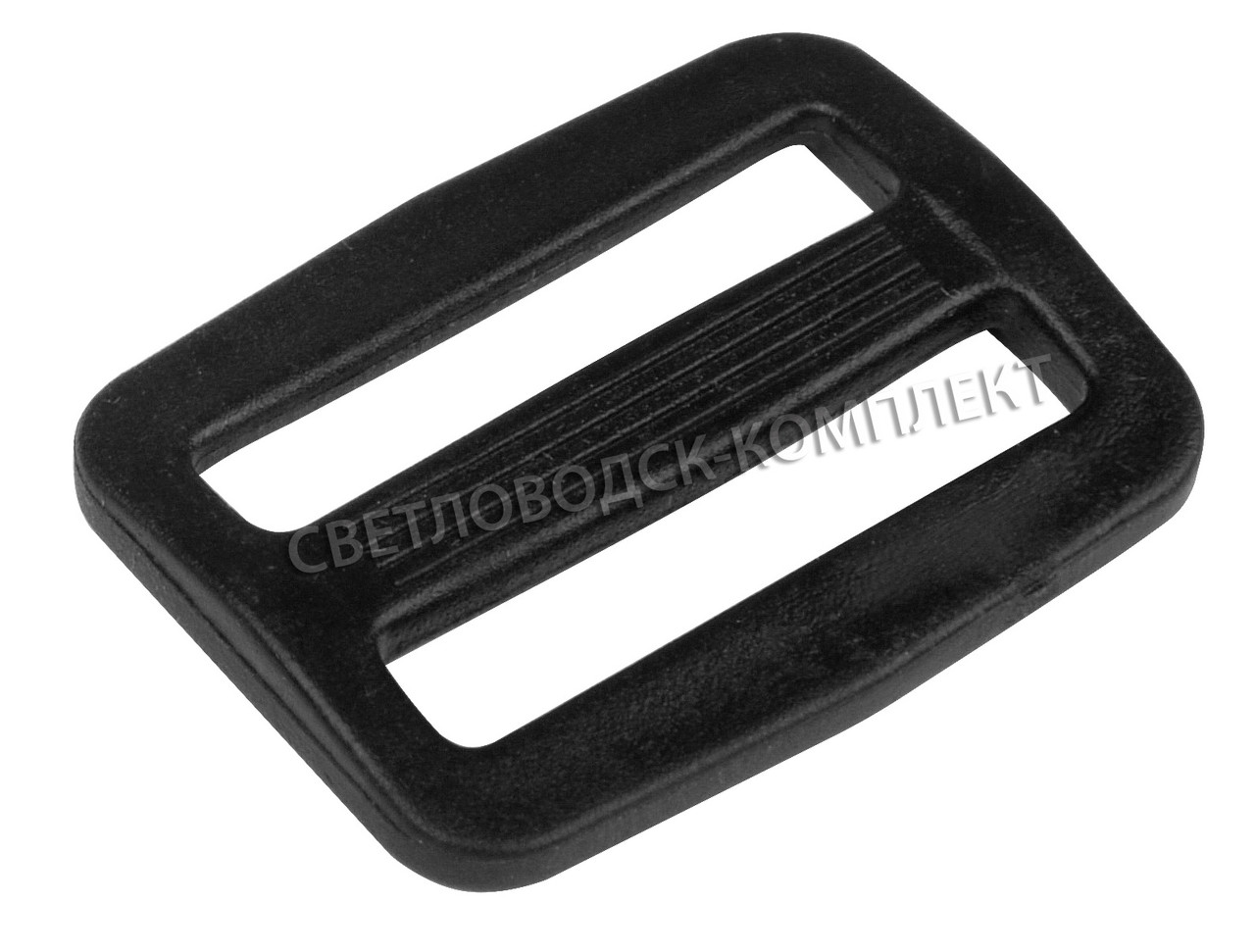 Пряжка 2-х щелевая 25 мм пластик, цв. чёрный, арт. РП/2-2514