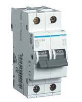 Автоматичний вимикач Hager In=16А, 2п, С, 10 kA, 2м