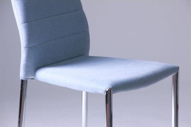 Стул Астрид светло-синий (Вид сиденье)