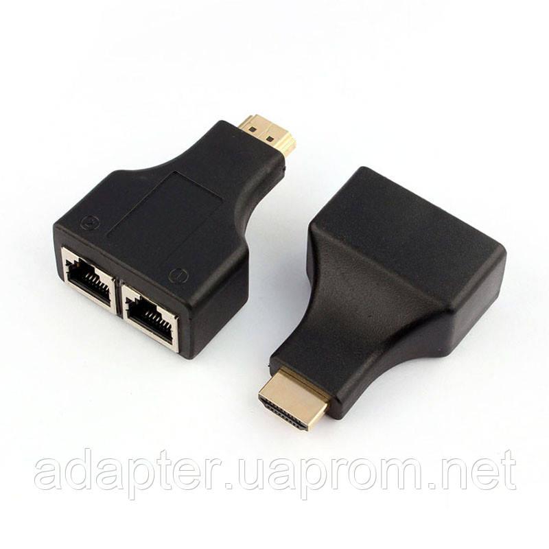 Удлинитель HDMI OEM CN517, HDMI-RG45 2шт; 1080P; до 30м;