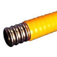 Труба гофрированная нержавеющая для газа, подключения газовых счетчиков, в полиэтилене (желтая, белая)