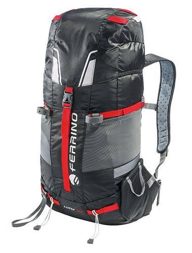 Самый технологичный рюкзак для похода Ferrino Overland 50+10 Black/Red 922870 черный