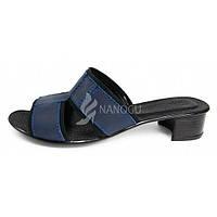 Босоножки женские темно-синие кожаные «Индиго» Украина, Синий, 39