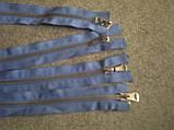 Молния металлическая голубого цвета, фото 3