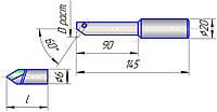 Твердосплавная режущая пластинкк к оправке 6300-4019-06 (20…44)