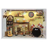 Cuteroom поделок дом куклы ручной работы из дерева миниатюрные украшения дома мебель бар