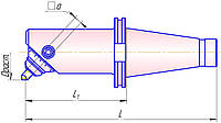 Головка расточная з мікр. регулюванням D60..80 L=393, з хв. 7/24 К45 за ГОСТ258-93 исп3