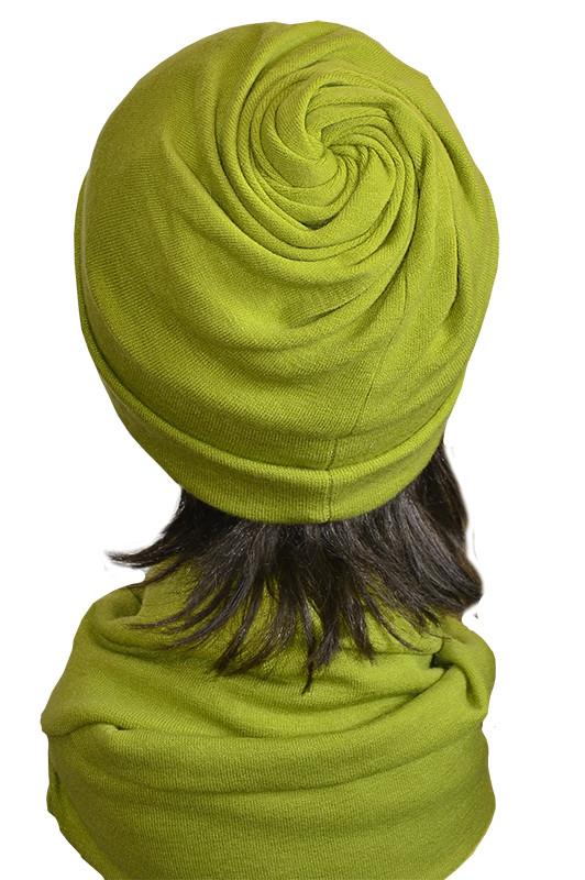 Шапка и шарф набор модель Коловорот