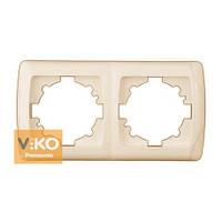 Рамка 2-я вертикальная крем ViKO Carmen